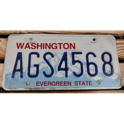Washington Evergreen State Tablica Rejestracyjna USA