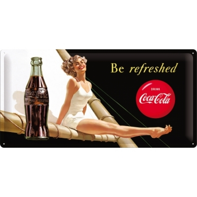 Duża tablica Coca Cola Pin Up Girl Retro 25x50cm szyld